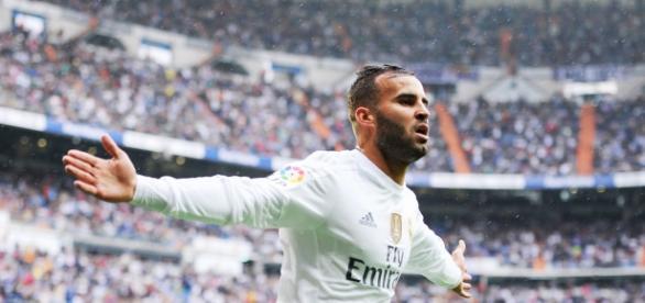 Jesé Rodríguez celebrando su gol ante el Levante