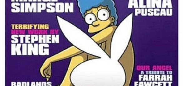 Portada de 'Playboy' con Marge Simpson.
