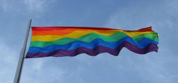 Bandera multicolor gay. Flickr