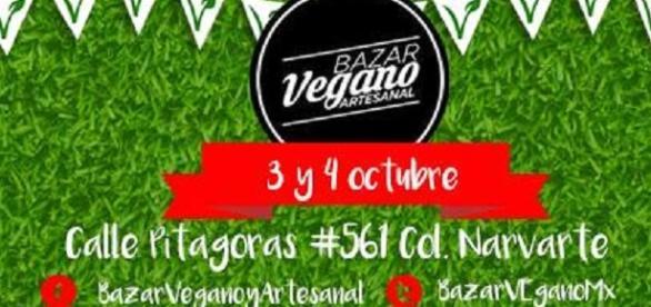 Bazar vegano artesanal este 3 y 4 de octubre.