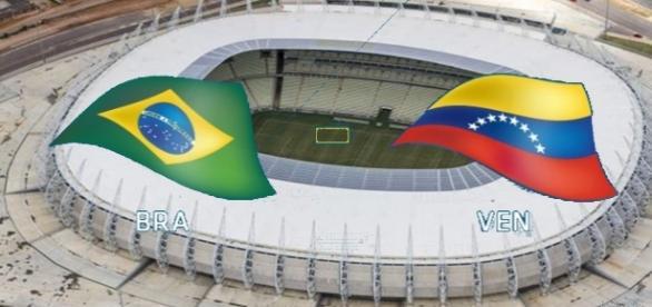 Brasil e Venezuela se enfrentam no Castelão