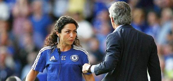 Carneiro during the initial incident with Mourinho