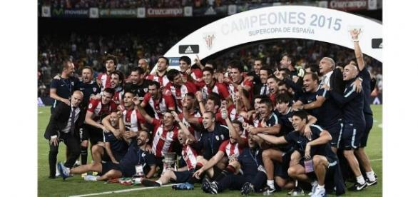 Celebración Supercopa. Athletic Club de Bilbao.