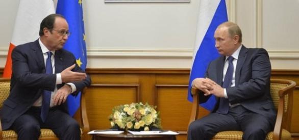 Fotografía del encuentro de ambos presidentes