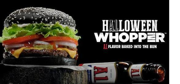 Halloween Whopper Terrorífica 2015