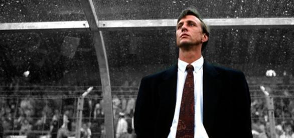 Cruyff durante su etapa como entrenador