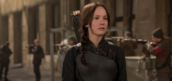 Jennifer Lawrence em 'Jogos Vorazes'
