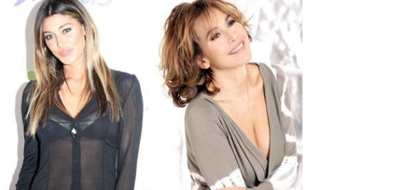 Belen Rodriguez cameriera per Barbara D'Urso.