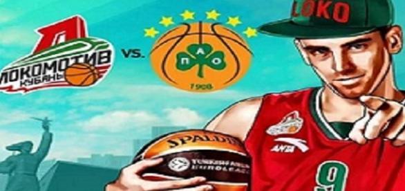 Cartel partido Euroliga Lokomotiv vs Panathinaikos