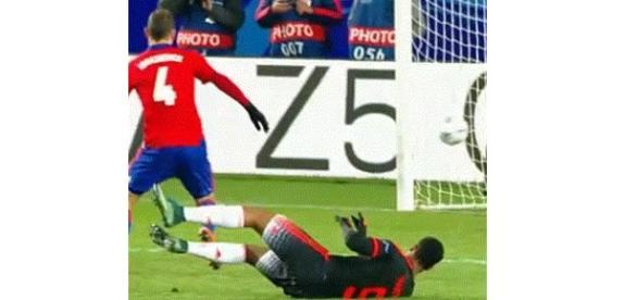 Martial scores United's equaliser
