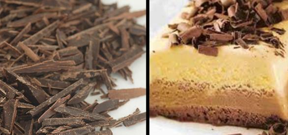 Terrina de chocolate blanco y chocolate negro