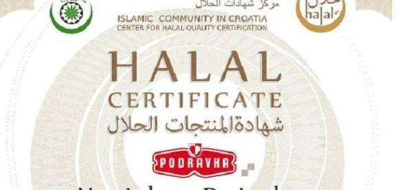 Certyfikat Halal chorwackiej Podravki
