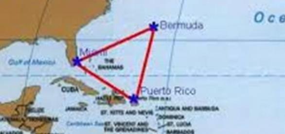 Ubicación del triangulo de las bermudas.