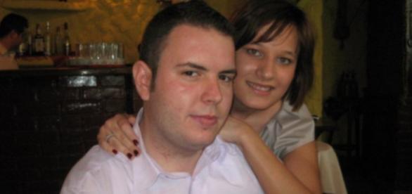 Bogdan, alături de soția sa Raluca