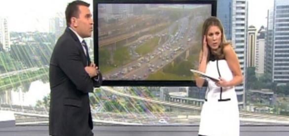 Lâmpada explode e assusta jornalistas da Globo