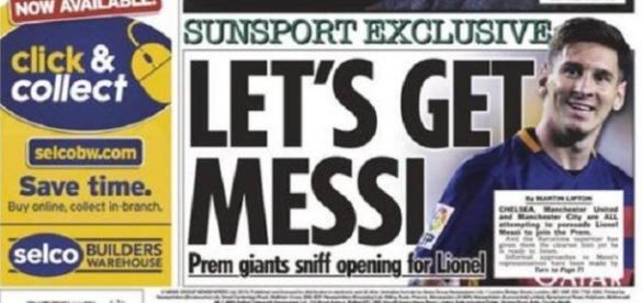 """Portada del diario inglés """"The Sun"""""""