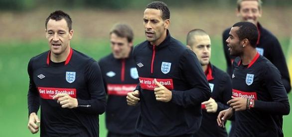 Terry, Rio y Cole con la selección. Fuente: APP