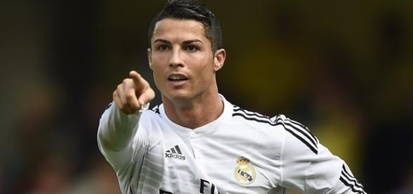 Cristiano Ronaldo, comemorando gol contra o Celta!