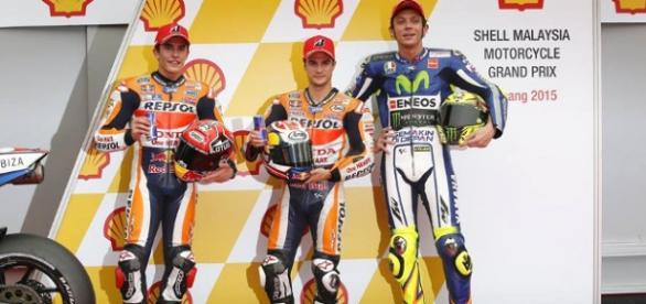 Los 3 pilotos ocuparán la primera fila en Sepang
