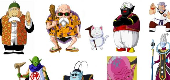 Los maestros de Goku a lo largo de las series