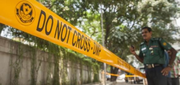 Agentes de la policia de Blangladesh en escenario