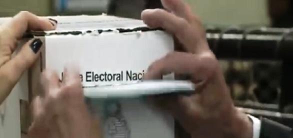 Captura de pantalla. Se vota en Argentina