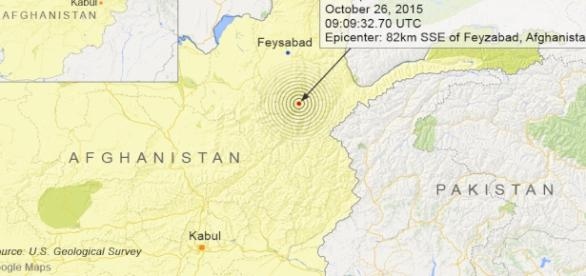 Afgan 7.5 quake felt as far away as India.