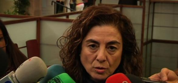 Cristina Uriarte ante los medios de comunicación