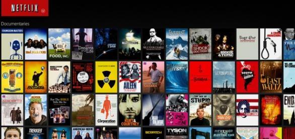 Il palinsesto di Netflix, con serie Tv e Film