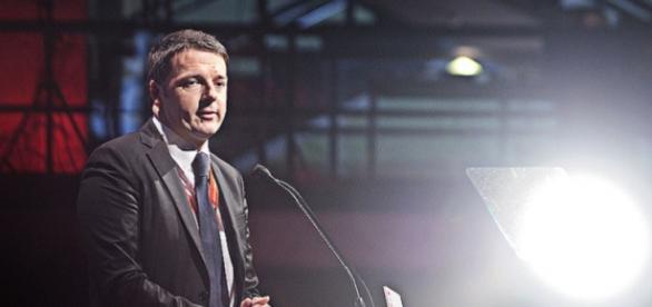 Il premier Renzi ad una conferenza