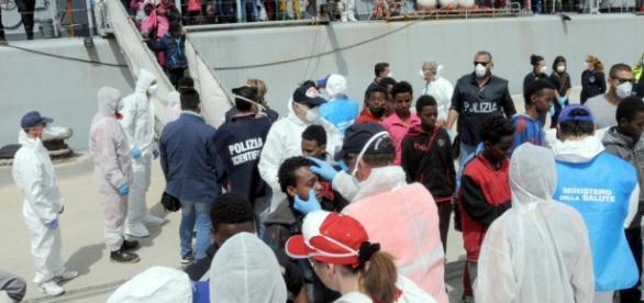 L'arrivo dei migranti sulle coste italiane