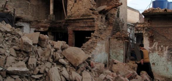 Clădiri din Kabul după cutremur
