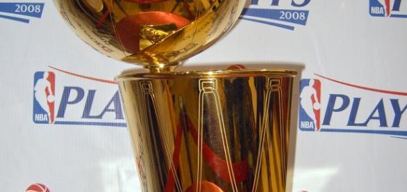 Codiciado trofeo de campeón NBA