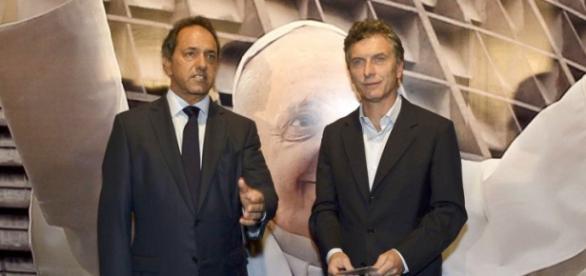 Daniel Scioli e Mauricio Macri / Flickr