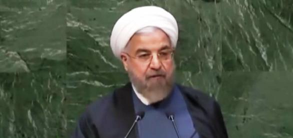 Captura de Pantalla Rohani presidente de Iran