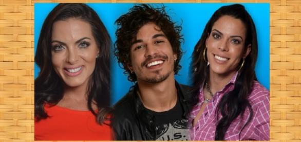 Carla, Douglas e Rebeca estão na roça da Fazenda 8