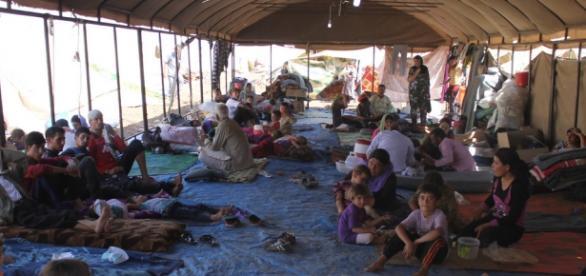La situación de algfunos refugiados es límite