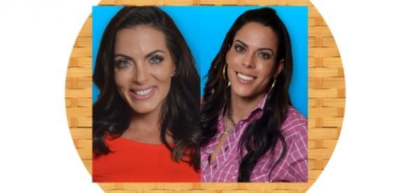 Carla Prata e Rebeca Gusmão estão na roça