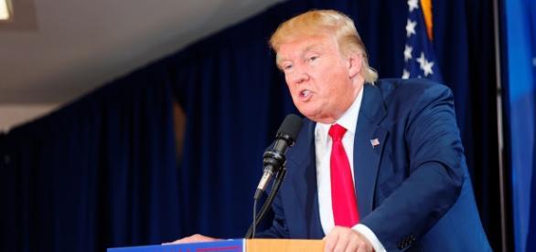 Donald Trump en un contundente discurso