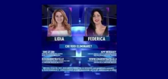 lidia e federica in nomination gf14