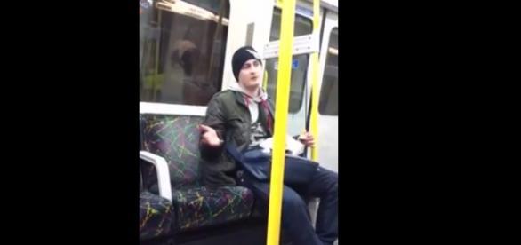 Polak atakuje imigrantów w angielskim pociągu