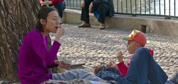 Típica familia china de un solo hijo