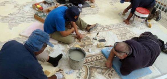 Mosaico egipcio encontrado en Israel