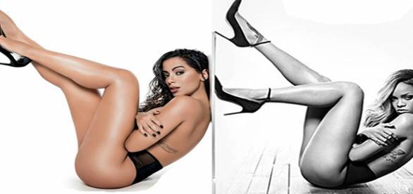 Comparação entre Anitta e Rihanna