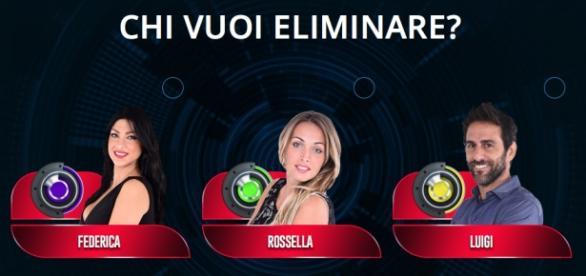 Federica, Rossella e Luigi in nomination