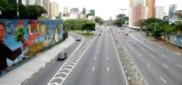 São Paulo vazia em dia de feriado