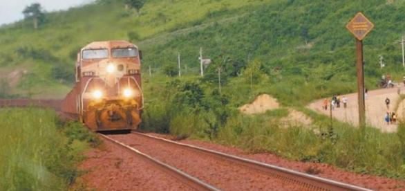 Trem que passa diariamente em Parauapebas-Pará