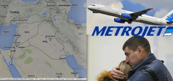 Avion rusesc prăbuşit în Peninsula Sinai