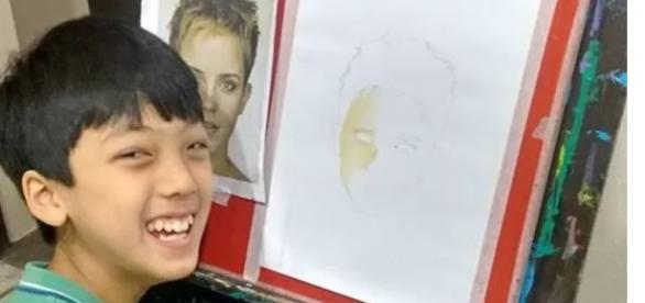 Ricardo Yukio Hoshino Doi, o pequeno desenhista.