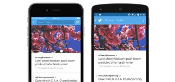twitter con actualizaciones para iOS y Android